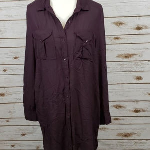 Wilfred Free Plum Purple Tunic Shirt Dress sz S